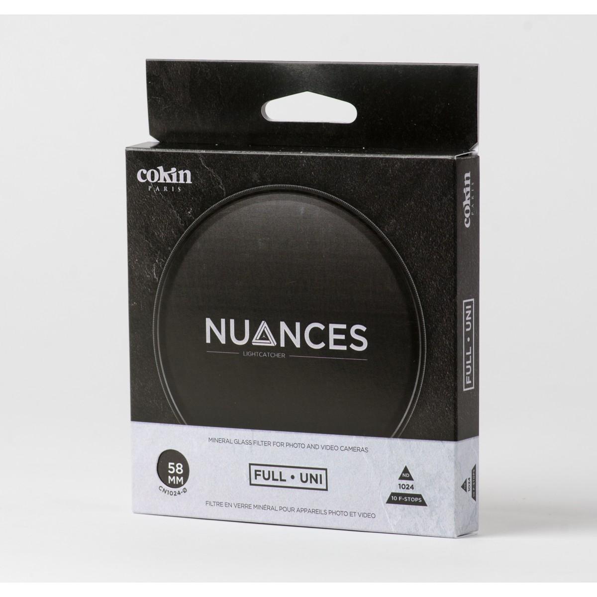 COKIN NUANCES - Filtre Densité Neutre vissant ND1024 - 58mm