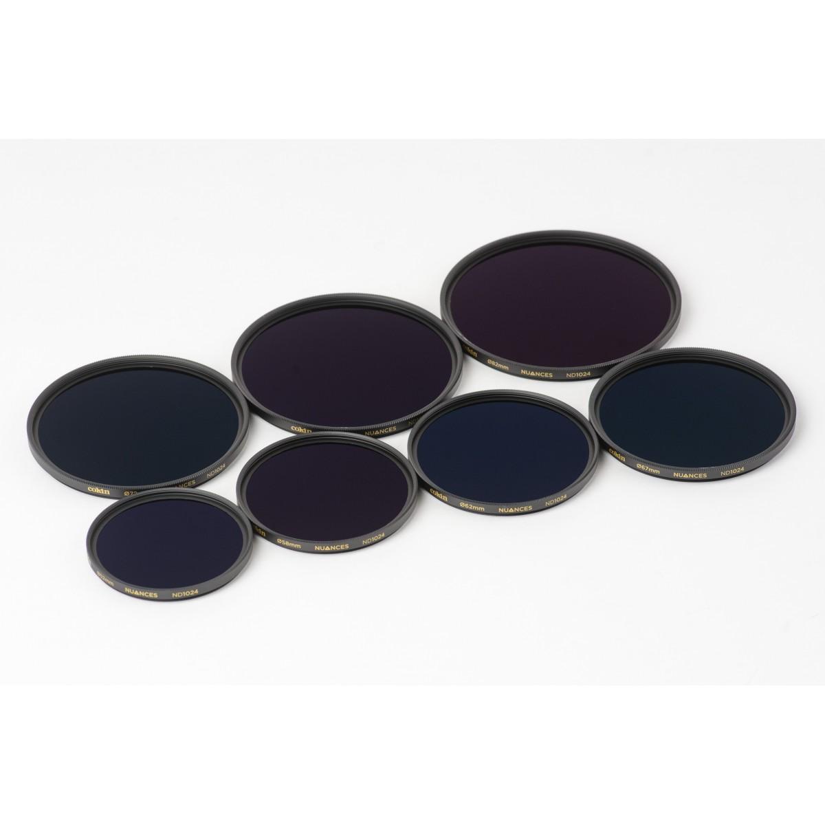 COKIN NUANCES - Filtre Densité Neutre vissant ND1024 - 72mm